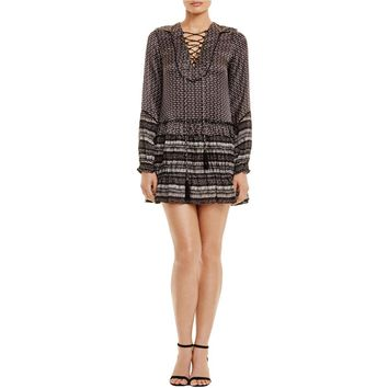 Twelfth Street by Cynthia Vincent Womens Lace-Up Printed Casual Dress