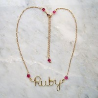 Custom Personalized Name Necklace with Swarovski Crystals