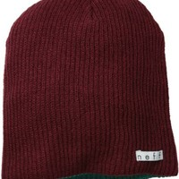 neff Men's Daily Reversible Beanie, Maroon/Dark Teal, One Size