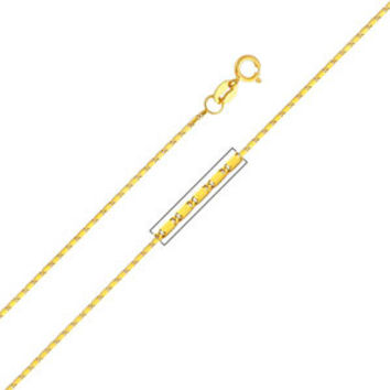 "14K Yellow Gold 1mm Snail Link Chain Necklace (Length: 16""""; Weight: 1.4 Grams approx)"