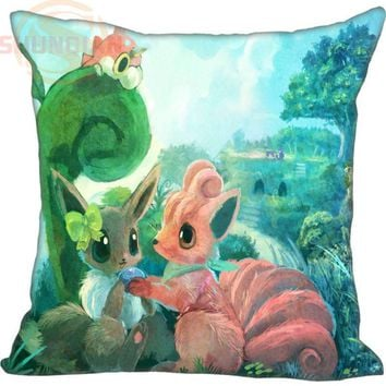 Best New   Eevee #25 Pillowcase Wedding Decorative Pillow Case Custom Gift For Pillow CoverW&17212Kawaii Pokemon go  AT_89_9