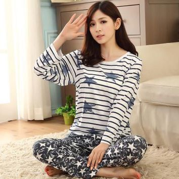 Women Sleep Lounge Free Shipping Cotton Pajamas Fashion Soft Cotton Pajamas Women Sleepwear Sets For Girls Home Nightgown Sets