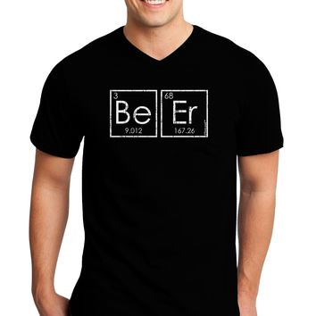 Be Er - Periodic Table of Elements Adult Dark V-Neck T-Shirt by TooLoud