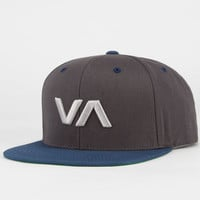Rvca Va Mens Snapback Hat Charcoal One Size For Men 22768211001