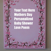 Personalized Gift, Christening, Baptism, Confirmation, baby shower, mothers day, custom painting