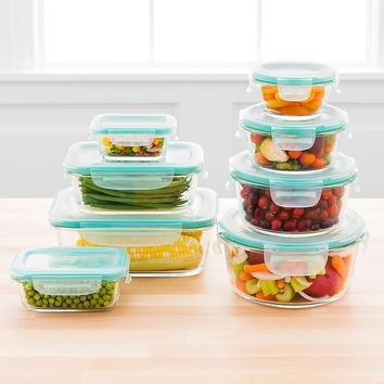 OXO Good Grips 8-Piece SNAP Rectangular Glass Food Storage Set
