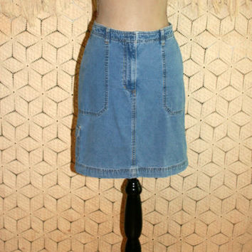 Women Denim Skirt Midi Jean Skirt Size 2 Size 4 Small Short Denim Skirt Jones New York Womens Clothing