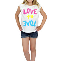 Dirtee Hollywood Love To Love Muscle Tee | Mod Angel