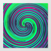 Psychedelic Retro Swirl - Pattern Canvas Print by Moonshine Paradise