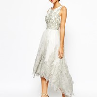 Chi Chi London Premium Embroidered High Low Prom Dress
