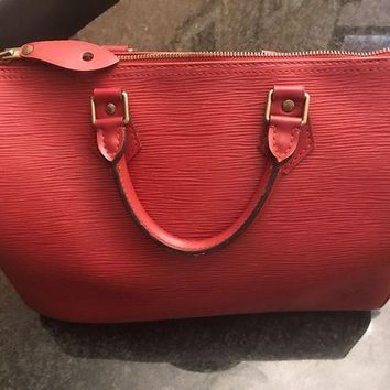 CREYDC0 Louis Vuitton Handbag EPI RED Speedy 30