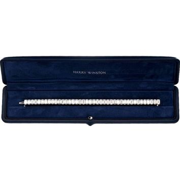Harry Winston 30 Carat Emerald Cut Diamond Tennis Bracelet