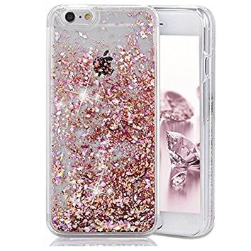 iPhone 6 Plus Case,Crazy Panda 3D Creative Liquid Glitter Design iPhone 6 Plus Liquid Quicksand Bling Adorable flowing Floating Moving Shine Glitter Case iPhone 6 Plus/6S Plus - Pink Diamonds
