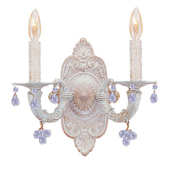 Annabelle Lee Wall Sconce in Antique White