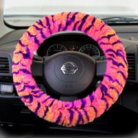 Steering Wheel Cover Bow Wheel Car Accessories Lilly Heated For Girls Interior Tribal Camo Cheetah Sterling Chevron Colorful Leopard Tiger