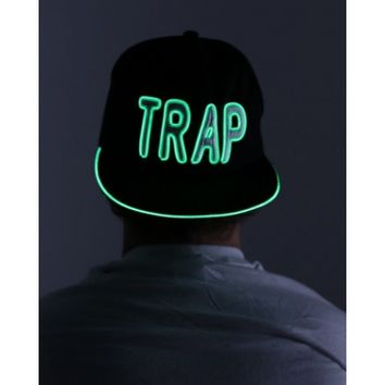 Trap Light Up Snapback | Light Up EDM Hat | Trap Music Hat