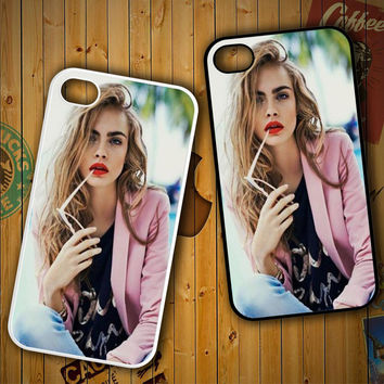 Cara Delevingne Cute Girly Hot X0956 LG G2 G3, Nexus 4 5, Xperia Z2, iPhone 4S 5S 5C 6 6 Plus, iPod 4 5 Case