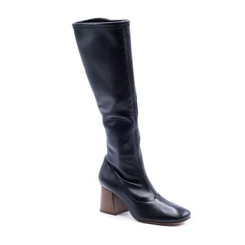 Celine Ballerina Napa Stretch Black Knee Boots