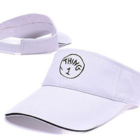 YUGY Thing 1 Adjustable Visor Cap Embroidery Sun Hat Sports Visors