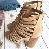 Camel Cutout Booties