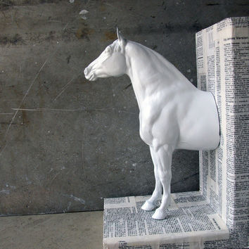EQUINE COLLECTION definition bookends in white by EQUINEbyLauren