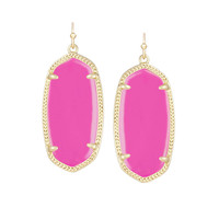 Kendra Scott Elle Magenta Magnesite Earrings 14K Gold Plated