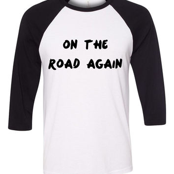 "One Direction ""On The Road Again"" Baseball Tee"