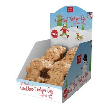 DOG HOLIDAY - CHRISTMAS - HOLIDAY XXL GINGERBREAD TREAT COUNTER DISPLAY  24/CS