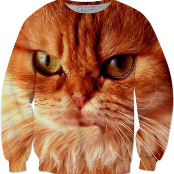 Orange Cat Sweatshirt