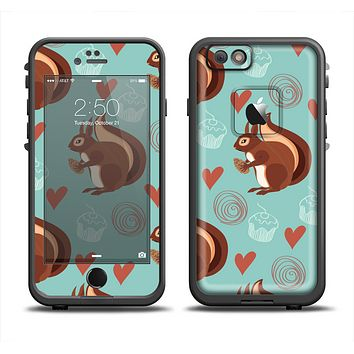 The Vector Love & Nuts Squirrel Apple iPhone 6 LifeProof Fre Case Skin Set