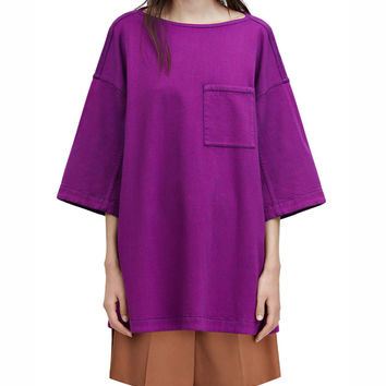 Acne Studios Avery Purple Boatneck Shirt