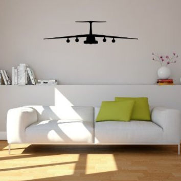 Lockheed C-141 Starlifter Airplane Silhouette Vinyl Wall Decal Sticker