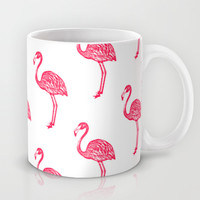 American Flamingo (pink) Mug by The Wallpaper Files