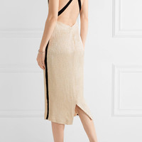 Jason Wu - Open-back grosgrain-trimmed cloqué midi dress