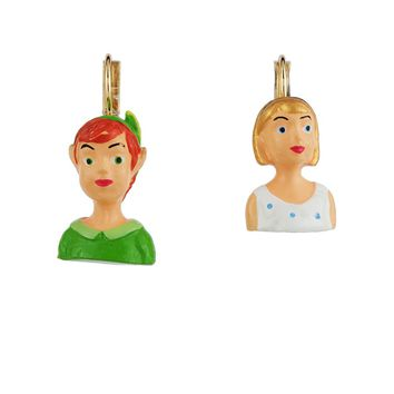 N2 by Les Néréides FLY WITH ME PETER AND WENDY EARRINGS