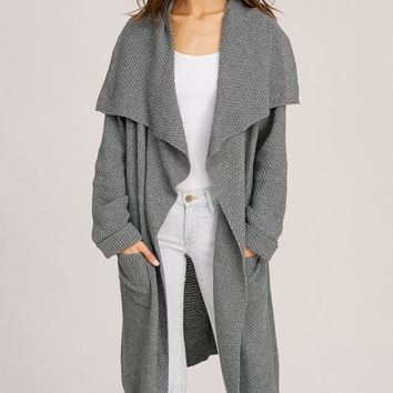 Ember Knit Cardigan - Charcoal