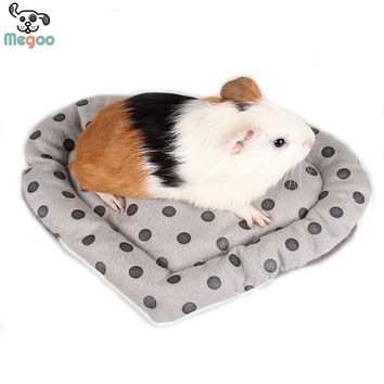 Cute Heart Small Animal Hamster Mat Soft Plush Winter Warm Guinea Pig Rabbit Cage Mat 22*18cm
