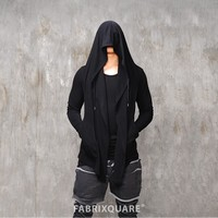 Mens Vlad Huge Hooded Silky Cardigan at Fabrixquare