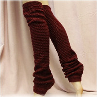 DANCE CRUSH yoga leg warmers - burgundy