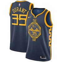 Men's Golden State Warriors #35 Kevin Durant Nike Navy 2018/19 Swingman Jersey – City Edition - Best Deal Online