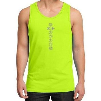 Yoga Clothing for You Mens 7 Chakras Cotton Tank Top