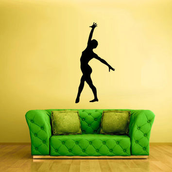 Wall Decal Vinyl Sticker Decor Art Bedroom Design Mural Nursery Kids Baby Ballet Ballerina Dancer Silhouette (z2473)