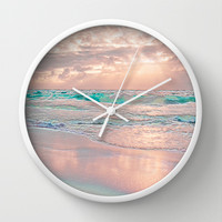 MORNING GLORY Wall Clock by catspaws