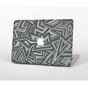 The Jagged Abstract Graytone Skin Set for the Apple MacBook Air 11""