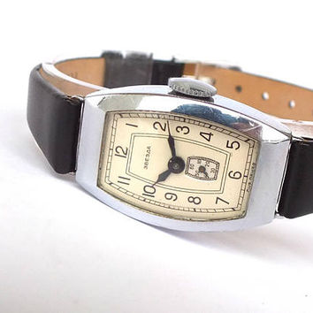 Mid-Century Watch. Old Watch. Atique Russian Womens Watch ZVEZDA Star 50s. Vintage Soviet Ladies Watch. Mid Century Modern Watch For Women.