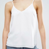ASOS Woven Cami Top with Double Layer at asos.com
