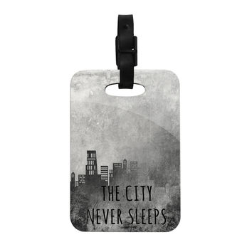 "Alison Coxon ""The City Never Sleeps"" Decorative Luggage Tag"