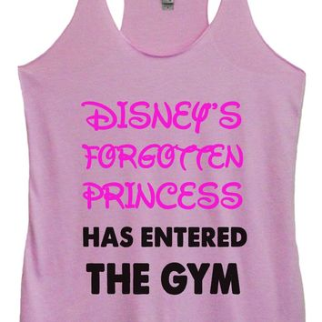Womens Tri-Blend Tank Top - Disney's Forgotten Princess Has Entered The Gym