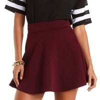 Quilted Skater Skirt by Charlotte Russe - Plum