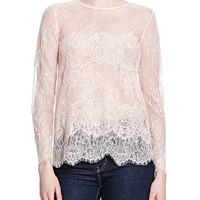 The KooplesSheer Lace Top